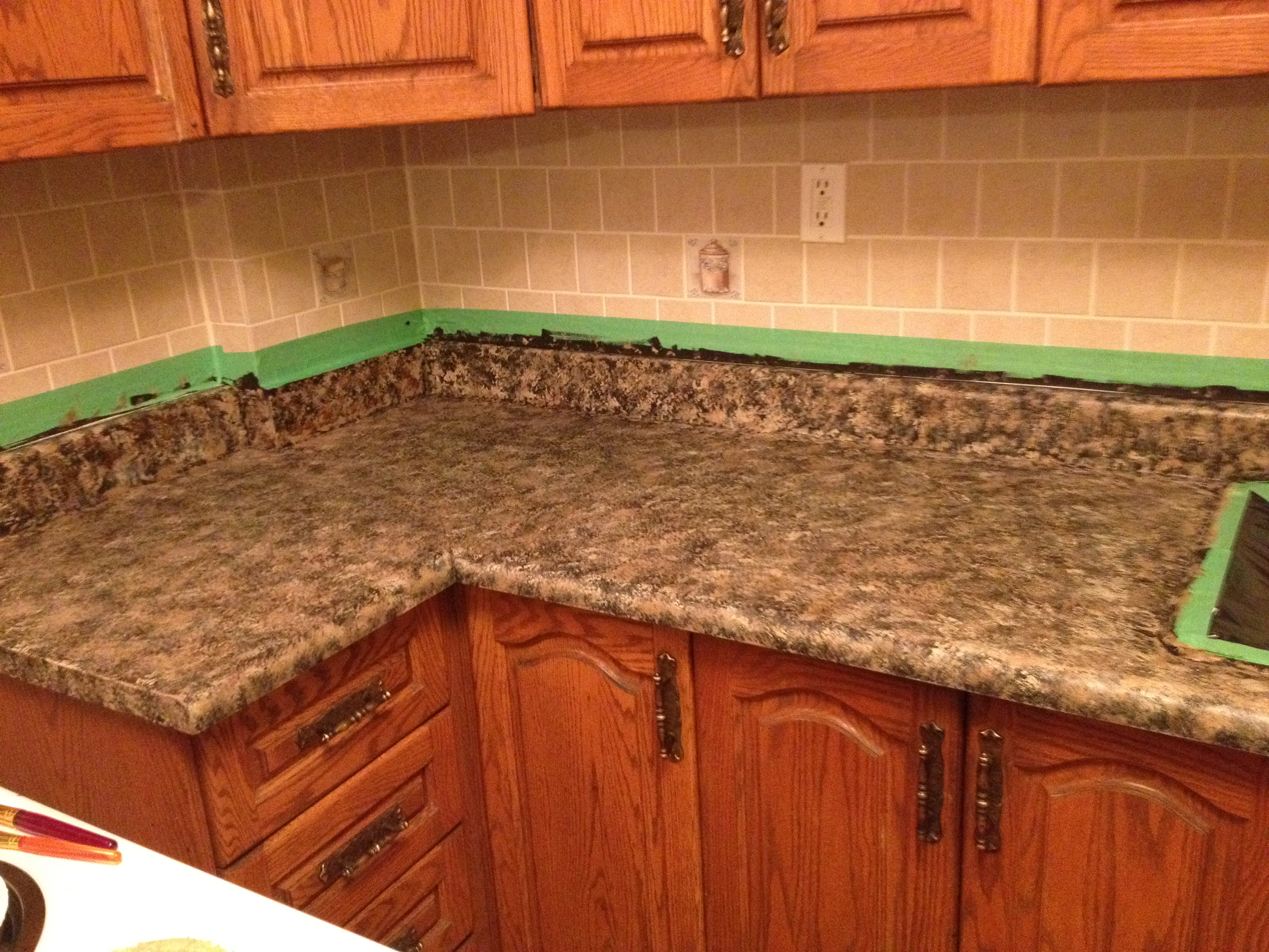 Countertop Paint Red : DIY Giani Granite Project Review