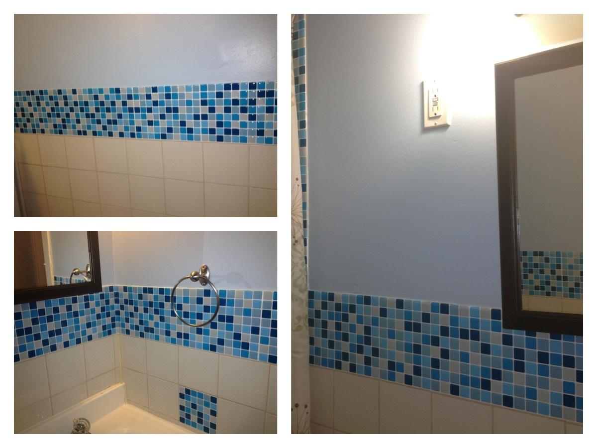 DIY Bathroom Makeover Part Two. Smart Tiles In Bathroom