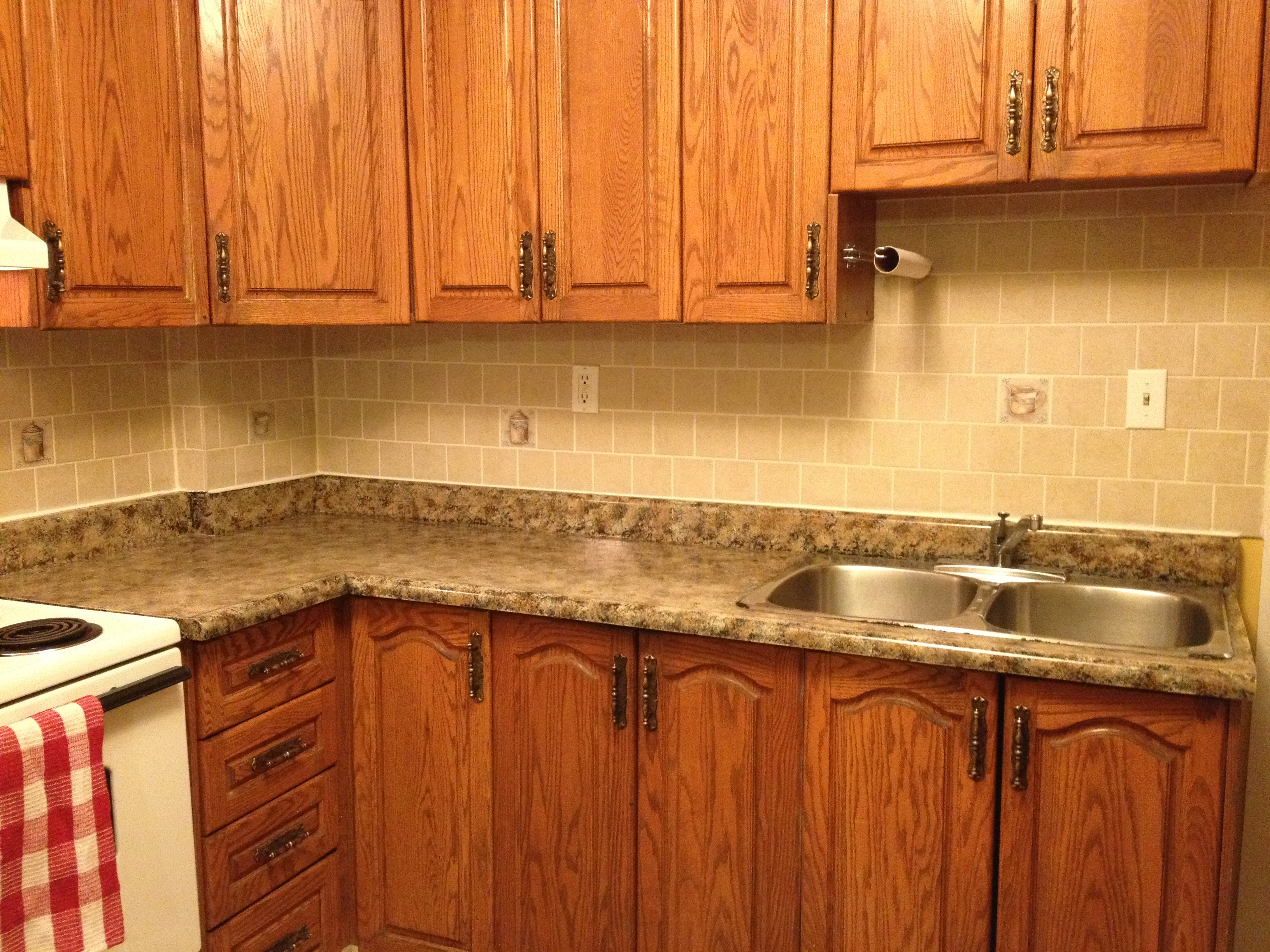 Countertop Paint Instructions : ... and I did our Countertop with the Giani Granite countertop Kit