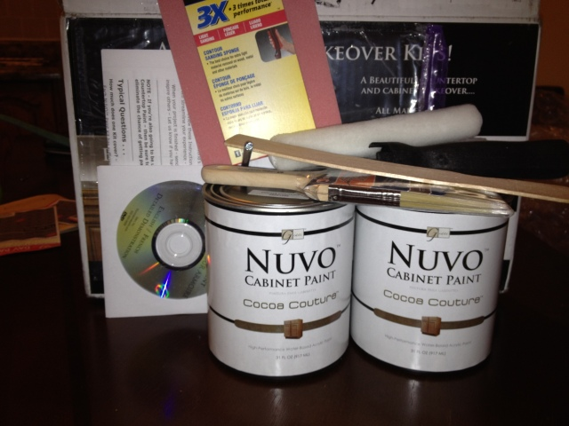 Nuvo Countertop Paint Video : The Kit has everything that is needed for the project.